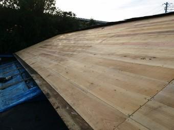 野地板(構造用合板)を新設
