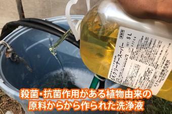 殺菌・抗菌作用がある植物由来の 原料からから作られた洗浄液