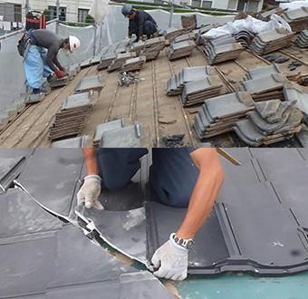 ルーガの施工を認可された会社による作業風景