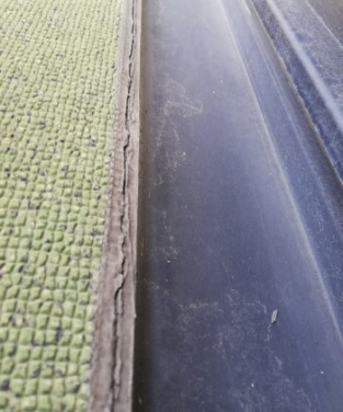 シート防水のシーリングが劣化