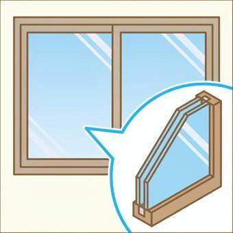 複層ガラス 台風対策