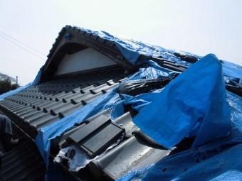 熊本市北区現場調査。屋根上写真20180331