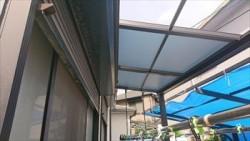 テラス屋根 台風被害 飛散