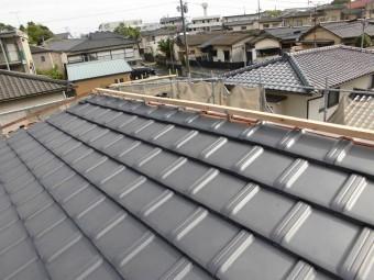 乾式工法棟金具設置状況の写真