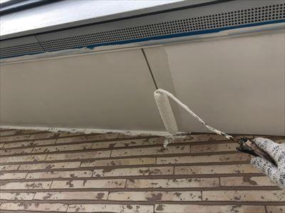 軒天 下塗り 塗装工事