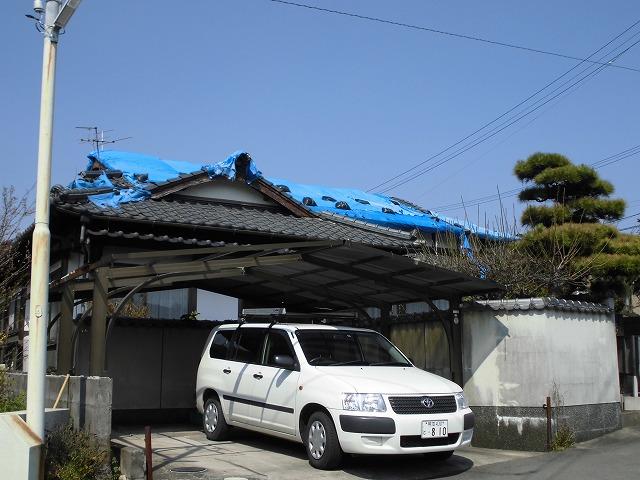 熊本市北区現場調査。全景写真20180331