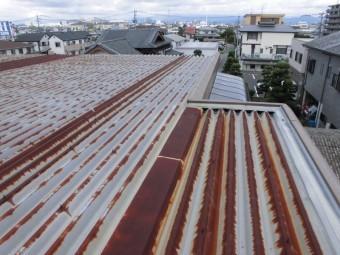 錆が進行した折半屋根