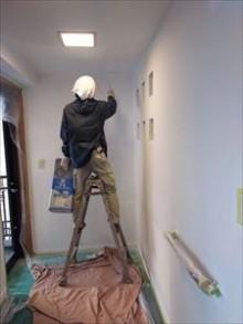 玄関 壁 塗装
