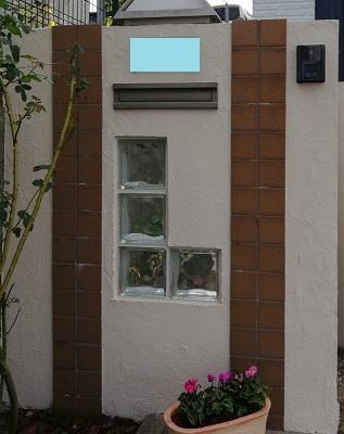 門柱 塗装 工事後