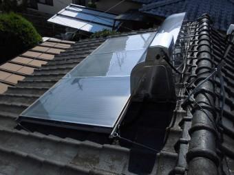東区若葉屋根現調太陽熱温水器の写真