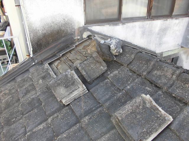 熊本市西区屋根現場調査瓦剥ぎ20180413