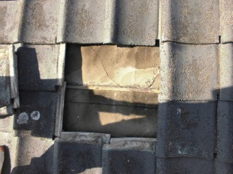 東区若葉現調下地の痛み2階部分写真