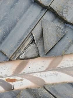 セメント瓦 割れ 工事前