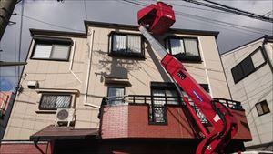 3階建住宅 棟板金 高所作業