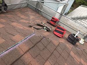 屋根 カバー工法 屋根材 水下施工完了