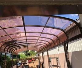 カーポート屋根 ポリカーボネート板 張替工事完了