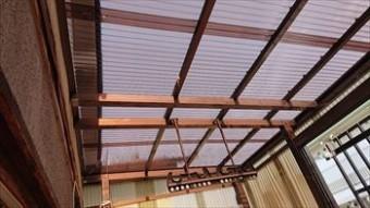 ベランダ屋根 張替え完了