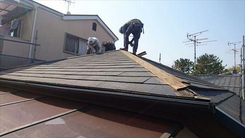 屋根 カバー工法 工事着工