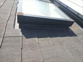 天窓雨漏り 屋根の上から調査