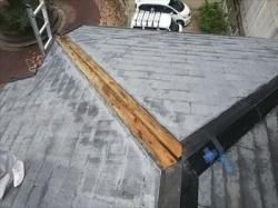 棟板金 台風被害 飛散