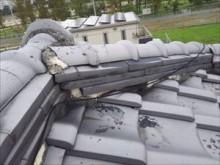 雨漏れ現地調査 棟取り合い部分 漆喰劣化
