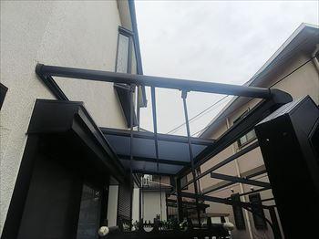 平板屋根 飛散状況