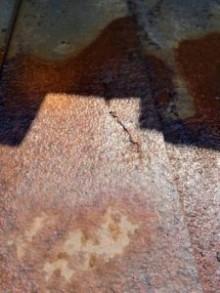 金属屋根劣化 サビ 穴
