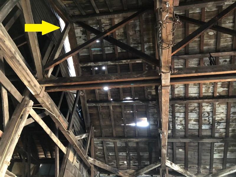 木造倉庫 雨漏り 熊本屋根工事