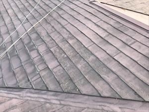 屋根補修サイン 塗装の剥がれ