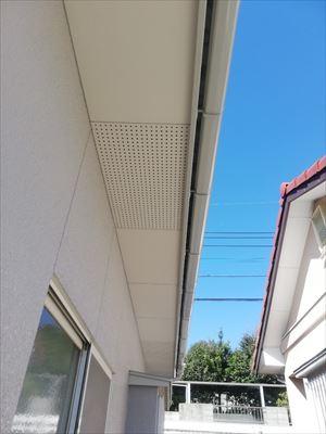 軒天 塗装工事