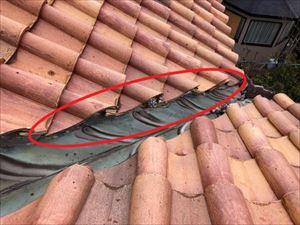 屋根材 飛散箇所①
