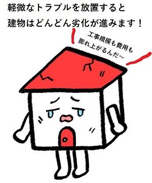 宇土市で瓦屋根の補修工事の様子|小さな屋根修理もお任せください!