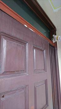 玄関扉 塗装工事