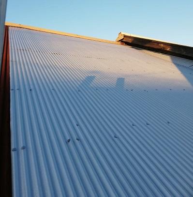 宇土市で雨漏りしたトタン屋根を補修工事 施工後