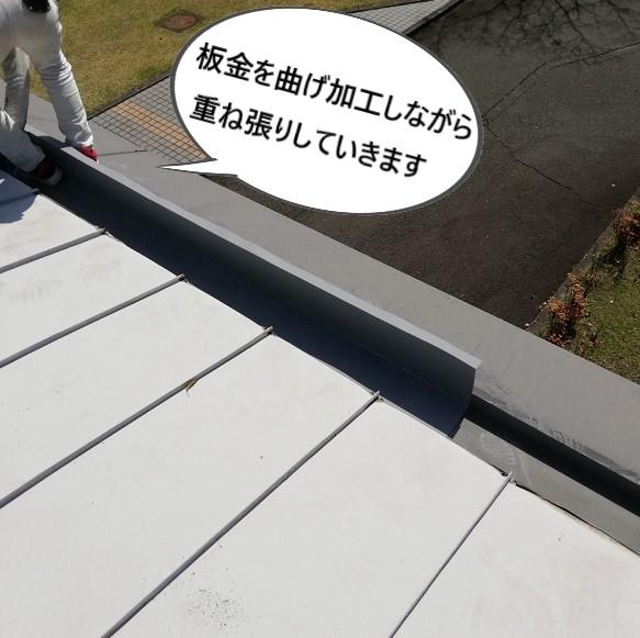板金重ね張り 雨樋雨漏り カバー工法