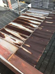 現地調査 雨漏れ 板金屋根