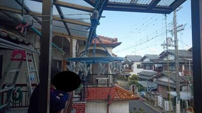現地調査 ベランダ屋根状況①