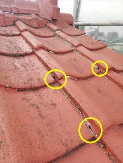 セメント瓦屋根 隙間 雨漏り