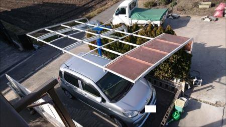 カーポート屋根 飛散 ご提案