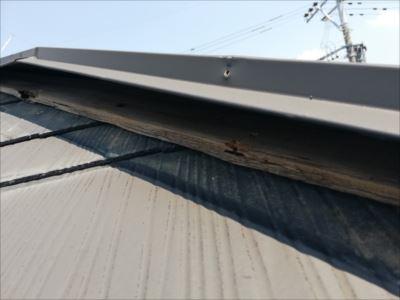 棟板金 貫板 張替え工事前