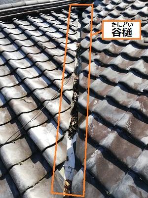 谷樋 雨漏り 現地調査 下地劣化 熊本