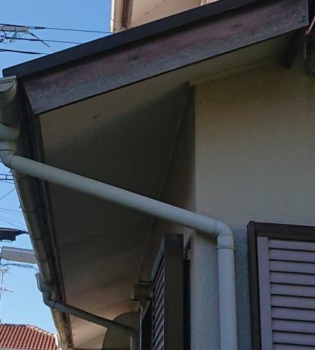 破風板 雨樋 塗装剥がれ