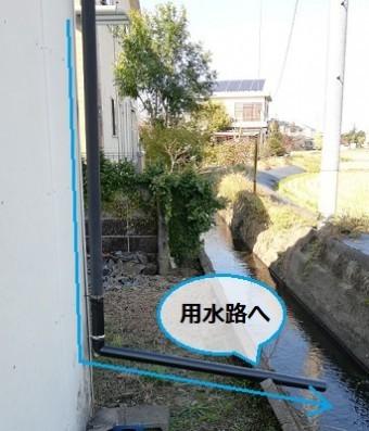 雨樋 雨水の流れ 排水 工事後