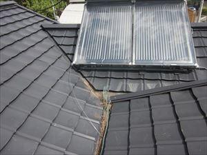 屋根の形状が谷樋
