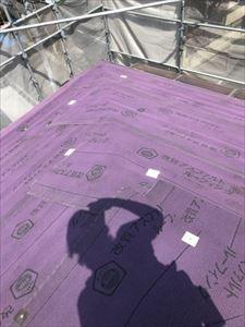 屋根 カバー工法 ルーフィング貼り