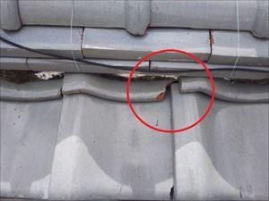 雨漏れ箇所 真上 屋根 漆喰劣化