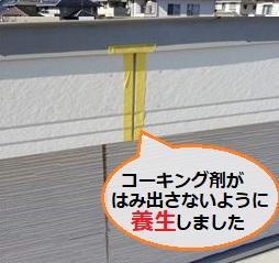 破風板 コーキング 養生 マスキングテープ