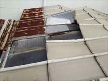 銅板屋根 破損状態