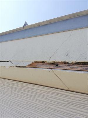 破風板 耐風被害 破損 片流れ屋根