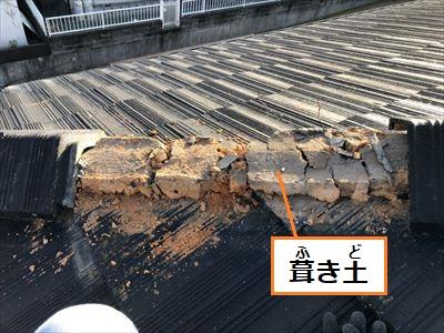 葺き土 漆喰 劣化 棟取り直し
